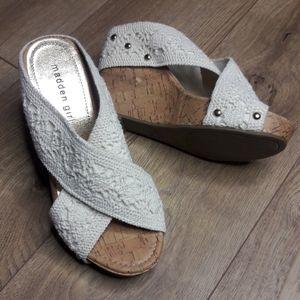 Madden Girl Nautic White Crochet Wedge Sandal